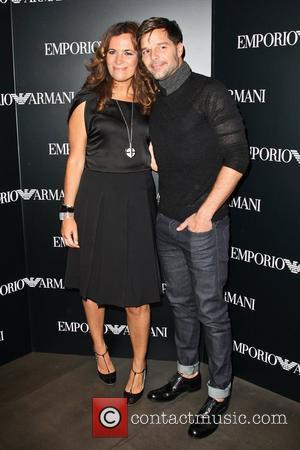 Roberta Armani and Ricky Martin Mercedes-Benz New York Fashion Week Spring/Summer 2013 – Emporio Armani - Party  New York...