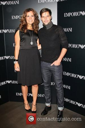 Roberta Armani and Ricky Martin  Mercedes-Benz New York Fashion Week Spring/Summer 2013 – Emporio Armani - Party...