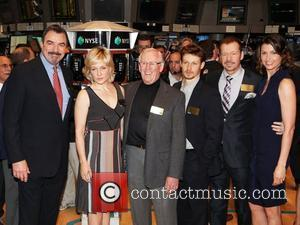 CBS's 'Blue Bloods' cast members Tom Selleck, Amy Carlson, Len Cariou, Will Estes, Donnie Wahlberg and Bridget Moynahan visit at...