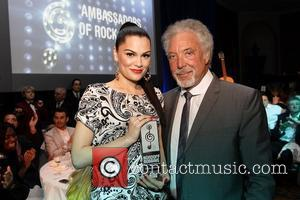 Jessie J receives the Royal Albert Hall Best British Act presented by Tom Jones,  The Nordoff Robbins O2 Silver...