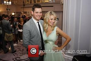 Michael Buble and wife Luisana Lopilato,  The Nordoff Robbins O2 Silver Clef Awards held at the Hilton Park Lane....