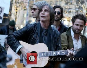 Jackson Browne performs at an Occupy Wall Street demonstration inside Zuccotti Park New York City, USA - 01.12.11