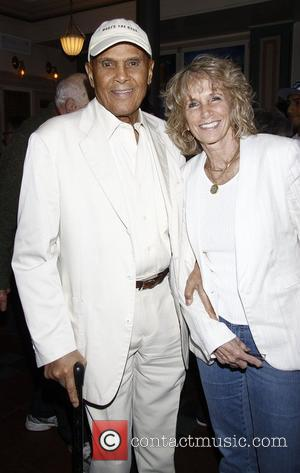 Harry Belafonte and Pamela Frank Opening night of the Off-Broadway comedy 'Old Jews Telling Jokes' at the Westside Theatre -...
