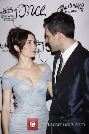 Cristin Milioti and Steve Kazee  Broadway opening night after party for the musical 'Once', held at Gotham Hall....