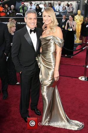 George Clooney and Stacy Kiebler 84th Annual Academy Awards (Oscars) held at the Kodak Theatre - Arrivals Los Angeles, California...