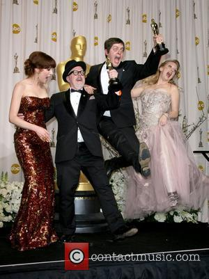 Ellie Kemper, William Joyce, Brandon Oldenburg and Wendi McLendon-Covey  84th Annual Academy Awards (Oscars) held at the Kodak Theatre...