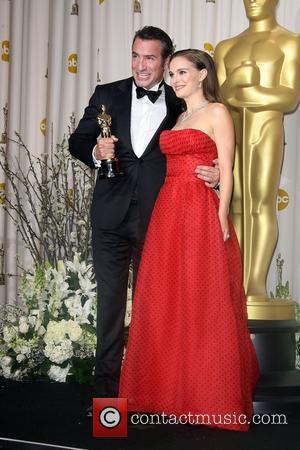 Jean Dujardin and Natalie Portman  84th Annual Academy Awards (Oscars) held at the Kodak Theatre - Press Room Los...