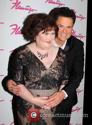 Donny Osmond and Susan Boyle  Susan Boyle makes a guest appearance at the the Donny & Marie Show at...