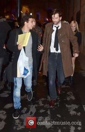 David Tennant after attending a showing of 'Our Boys', held at The Duchess Theatre  London, England - 03.10.12