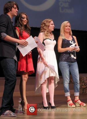 Matt Prokop, Angela Kinsey and Sarah Hyland