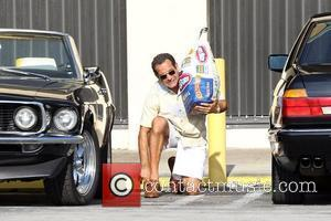 Tony Shalhoub on the set of 'Pain and Gain', a new movie about a pair of bodybuilders who get caught...