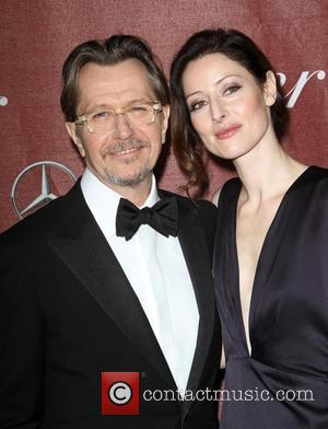 Gary Oldman and wife Alexandra Edenborough The 23rd annual Palm Springs International Film Festival Awards Gala at The Palm Springs...