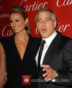 Stacy Keibler, George Clooney and Palm Springs Convention Center