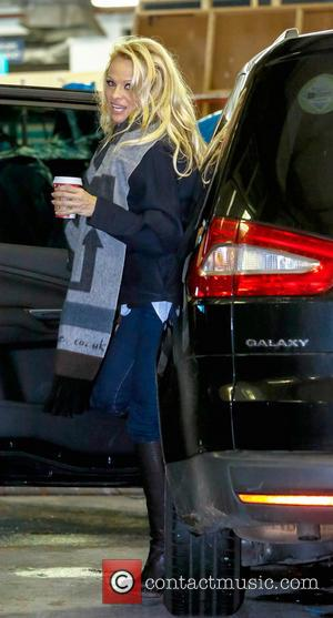 Pamela Anderson Pamela Anderson seen arriving at ITV's This Morning studios as she gets set to take part in 'Dancing...