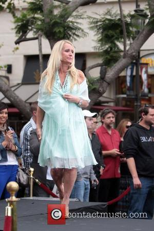 Kim Richards  The Hilton family appear on the entertainment news show 'Extra' at The Grove, to launch Kathy Hiltons...