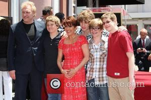 Patricia Heaton, David Hunt, their four sons Patricia Heaton is honored with a Hollywood Walk of Fame Star on Hollywood...