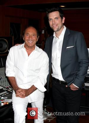 Paul Anka and Chris Mann  attending a photo call for the rewriting of MY WAY for Chris Mann at...