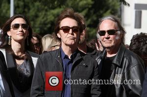 Nancy Shevell, Neil Young, Sir Paul Mccartney and Star On The Hollywood Walk Of Fame