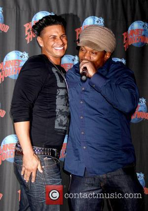 Pauly DelVecchio and Sway Calloway Pauly DelVecchio, aka Pauly D, takes part in a handprint ceremony at Planet Hollywood New...
