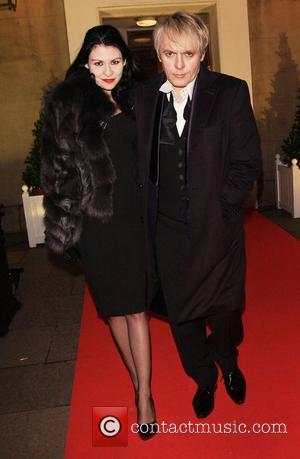 Nick Rhodes and guest Place For Peace dinner to support the Peace Earth Foundation, in association with Star Diamond at...
