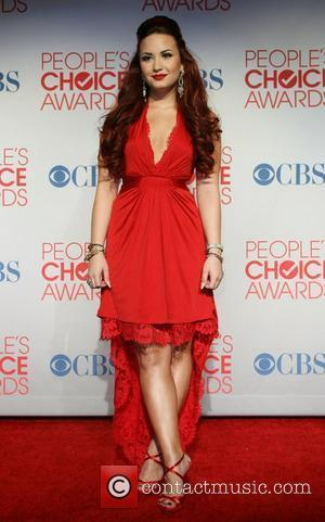 Demi Levato 2012 People's Choice Awards held at the Nokia Theatre L.A. Live - Press Room  Los Angeles, California...