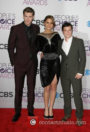 Liam Hemsworth, Jennifer Lawrence, Josh Hutcherson and People's Choice Awards