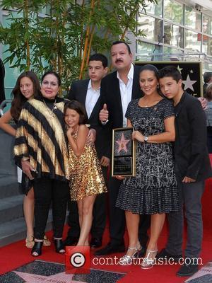 Flor Silvestre, Pepe Aguilar his wife Anelisse Aguilar and their Children Latin singer Pepe Aguilar is honoured with a star...