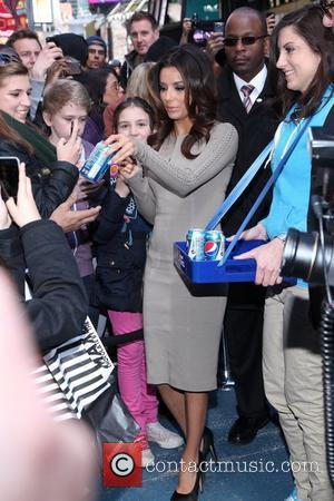 Eva Longoria promotes the Pepsi Next Drink It To Believe It event in Times Square New York City, USA _...