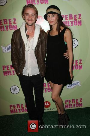 Tom Felton and Jade Gordon Perez Hilton's Mad Hatter Tea Party Birthday Celebration held at Siren Studios Hollywood, California -...