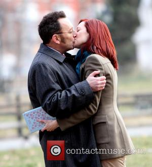 Michael Emerson; Carrie Preston Michael Emerson and his real life wife Carrie Preston shooting on location for CBS's TV series...