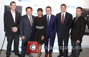 The Cast, Person, Interest, L-r, Jonathan Nolan, Kevin Chapman, Taraji P. Henson, Michael Emerson, Jim Caviezel and Greg Plageman