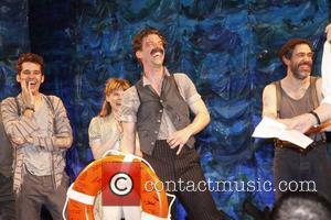 Adam Chanler-Berat, Celia Keenan-Bolger, Christian Borle and Kevin Del Aguila Christian Borle's last performance as Black Stache in the Broadway...