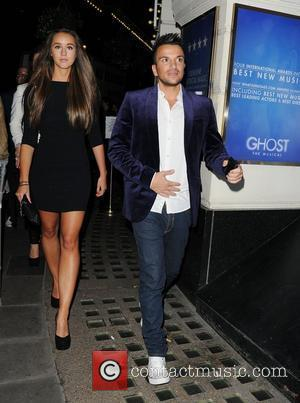 Emily MacDonagh and Peter Andre leaving the Piccadilly Theatre after watching the stage production of 'Ghost The Musical' London, England...