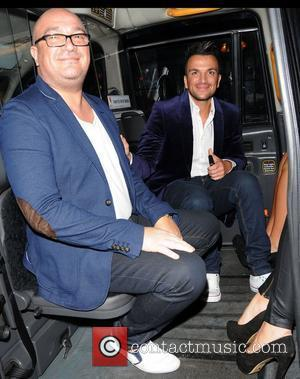 Peter Andre and his brother Andrew Andrem leaving the Piccadilly Theatre after watching the stage production of 'Ghost The Musical'...