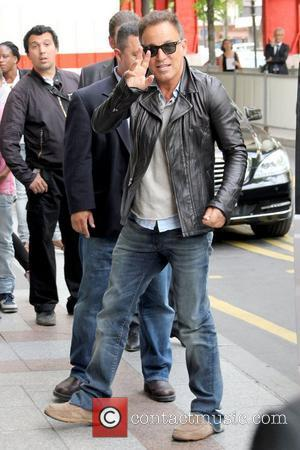 Bruce Springsteen Celebrities depart The Ritz Hotel to attend Paris Fashion Week Fall / Winter 2013  Paris, France -...
