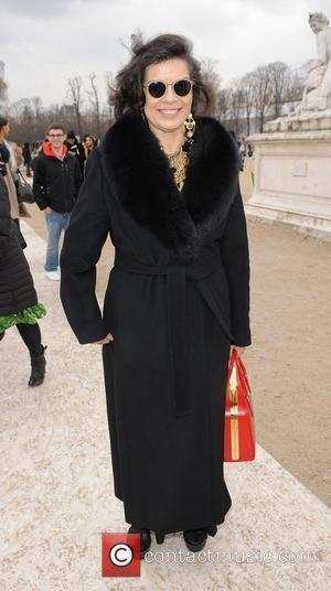Bianca Jagger Paris Fashion Week Autumn/Winter 2012 - Valentino- Outside Arrivals  Paris, France - 06.03.12