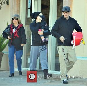 Pink (real name Alecia Moore) out with family in Malibu Los Angeles, California - 23.12.11