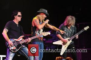 Bobby Dall, Bret Michaels and C.C. DeVille  Poison performs during the Rock of Ages Tour 2012 at the Bank...