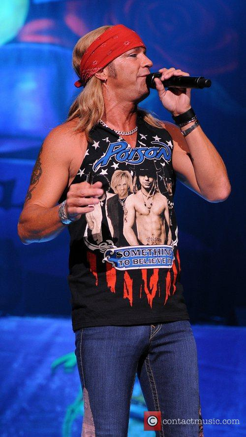 Bret Michaels  Poison performs during the Rock of Ages Tour 2012 at the Bank Atlantic Center  Sunrise ,...