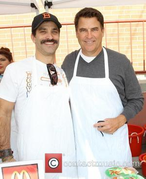 Johnathon Schaech (L) and Ted McGinley Chamber Of Commerce 17th Annual Police And Fire BBQ held at the Hollywood LAPD...