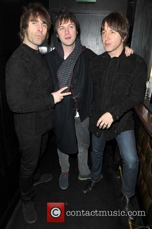 Liam Gallagher; Tom Meighan; Gem Archer Rock stars and celebrities attend Liam Gallagher's 'Pretty Green London Collections: Men's Autumn/Winter 2013...