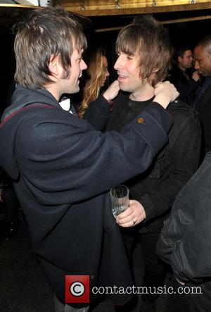 Tom Meighan; Liam Gallagher Rock stars and celebrities attend Liam Gallagher's 'Pretty Green London Collections: Men's Autumn/Winter 2013 Launch' held...
