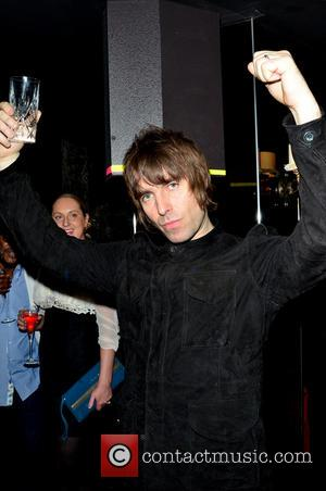 Liam Gallagher Rock stars and celebrities attend Liam Gallagher's 'Pretty Green London Collections: Men's Autumn/Winter 2013 Launch' held at The...