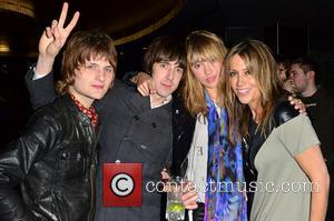 Nicole Appleton with fans Rock stars and celebrities attend Liam Gallagher's 'Pretty Green London Collections: Men's Autumn/Winter 2013 Launch' held...