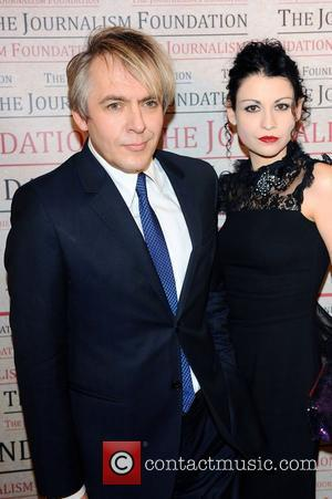 Nick Rhodes and wife,  at the A Priceless Evening gala fundraiser for The Journalism Foundation. London, England - 22.05.12