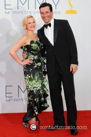 Elisabeth Moss and Jon Hamm