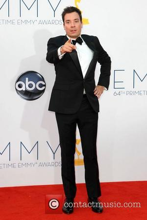 Jimmy Fallon 64th Annual Primetime Emmy Awards, held at Nokia Theatre L.A. Live - Arrivals Los Angeles, California
