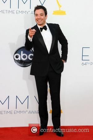 Jimmy Fallon 64th Annual Primetime Emmy Awards, held at Nokia Theatre L.A. Live - Arrivals Los Angeles, California - 23.09.12
