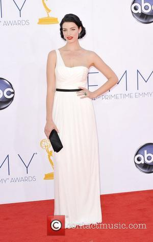 Jessica Pare  64th Annual Primetime Emmy Awards, held at Nokia Theatre L.A. Live - Arrivals Los Angeles, California -...