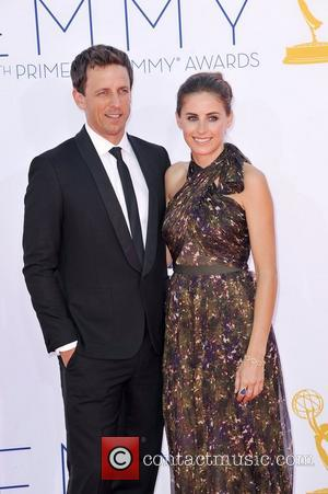 Seth Myers  64th Annual Primetime Emmy Awards, held at Nokia Theatre L.A. Live - Arrivals Los Angeles, California -...
